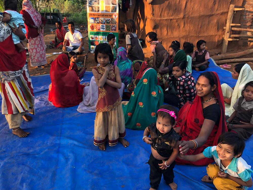 Des bénéficiaires de l'association Action Against Hunger en Inde